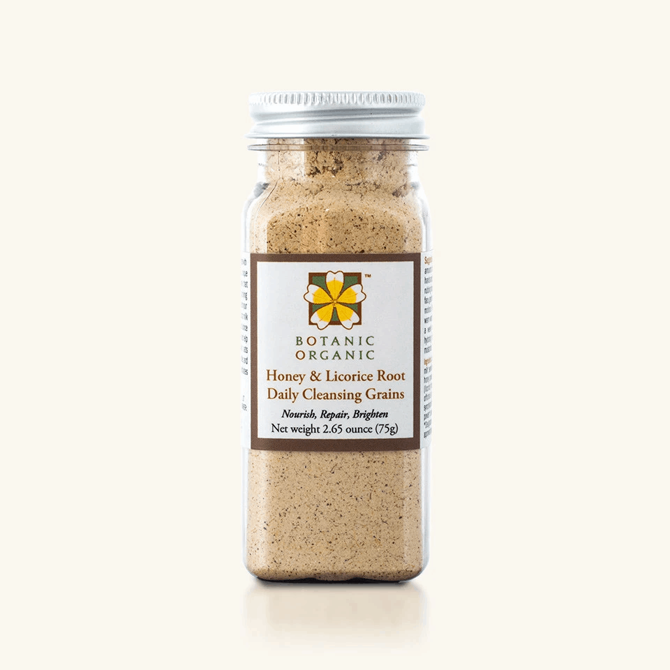 Natural Beauty Products: Daily Cleanser Botanic Organic Honey & Licorice Root Daily Cleansing Grains Take 15% off Botanic Organic plant-based, organic skincare with discount code USALOVE. No expiration.
