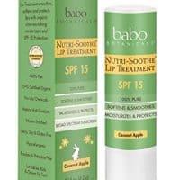 Lip Protection: Babo Botanicals Nutri-Soothe Natural Lip Treatment Balm SPF 15 Sunscreen