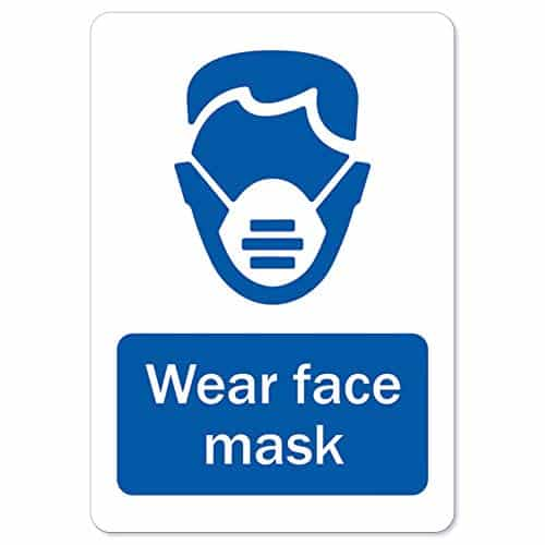 Coronavirus (COVID-19) - Wear Face Mask | Vinyl Decal