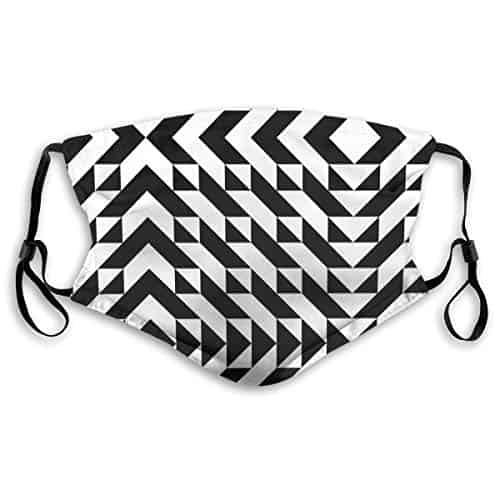 Geometric Pattern Mask With Filter Pocket