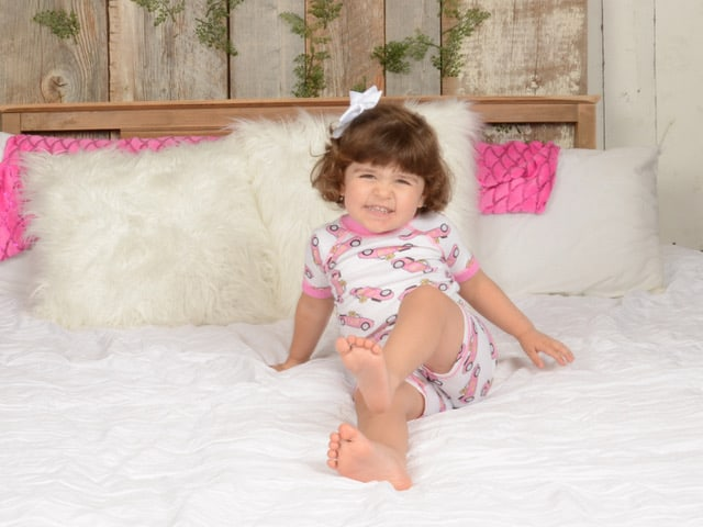 Made in USA Toddler clothing: Brian the Pekingese organic cotton PJs