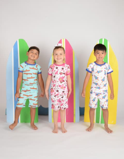 Made in usa kids clothing: Brian the Pekingese organic cotton pajamas