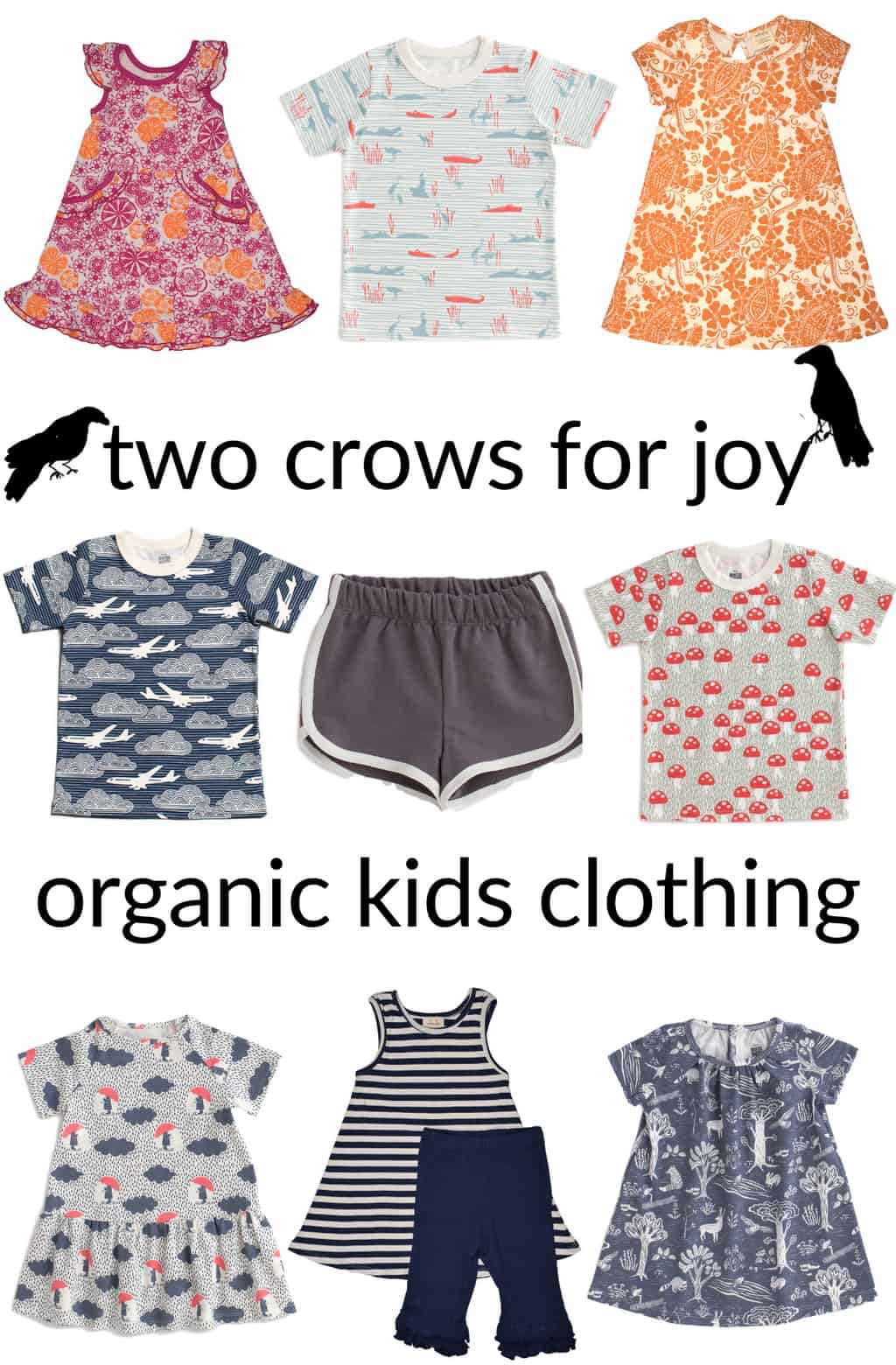 Clothing for Kids: Two Crows for Joy organic kids clothing