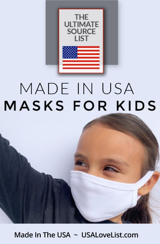 Made in USA Masks for Kids at USAlovelist.com