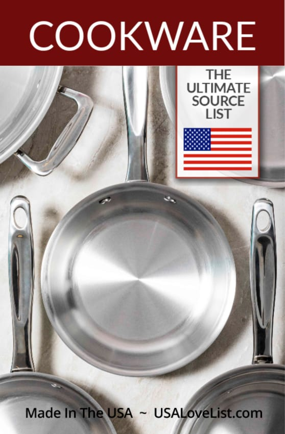 Made in USA Cookware- the ultimate source guide for American made pots and pans