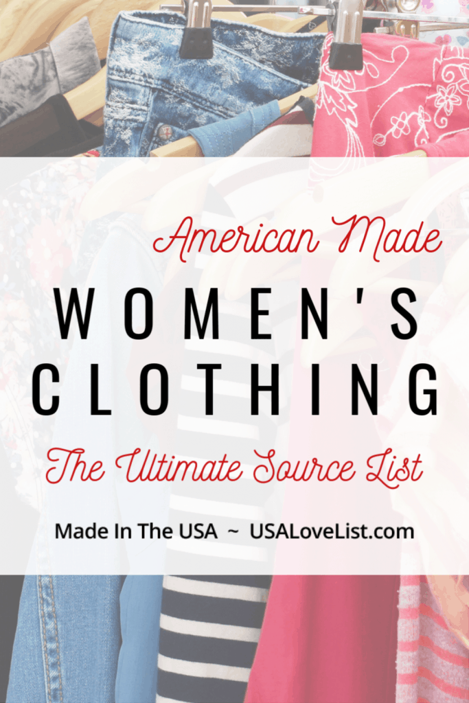 American made Women's Clothing - USAlovelist.com