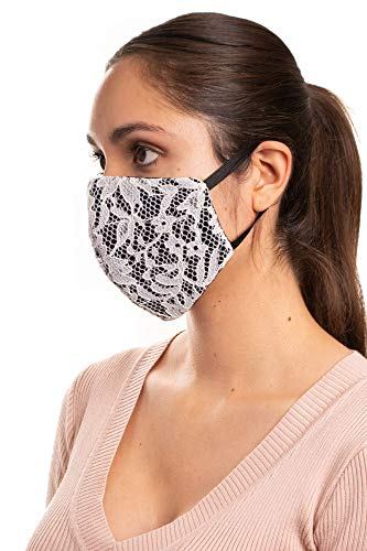 Lace Fabric Washable Reusable Mask