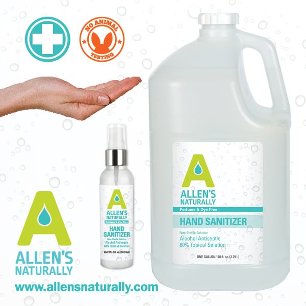 Made in USA Hand Sanitizer: Allen's Naturally spray hand sanitizer