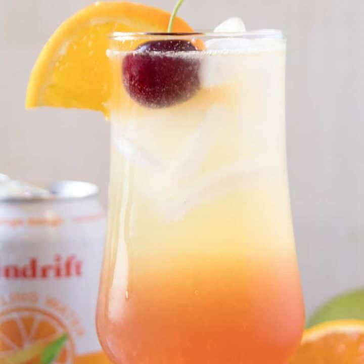 Sparkling Tequila Sunrise Recipe with Spindrift