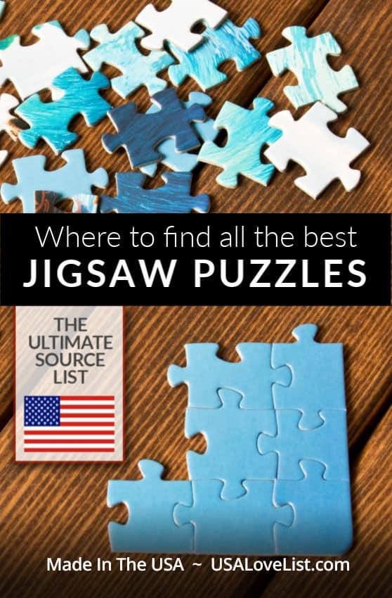 Where to find Jigsaw Puzzles Made in the USA - USAlovelist.com