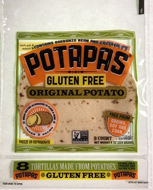 Potapas Potato Tortillas - Gluten-, Soy-, Grain-Free and Non-GMO