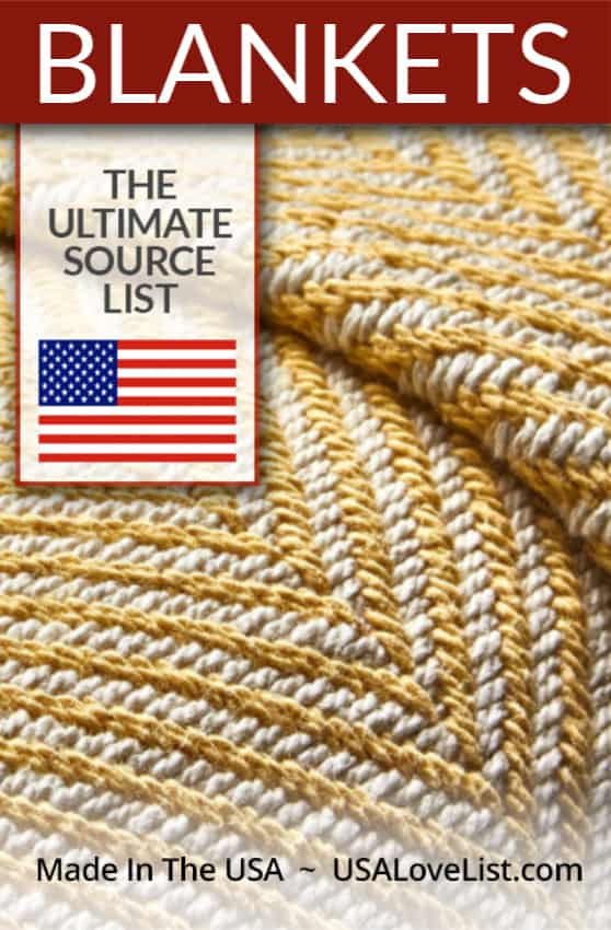 American made blankets via USA Love List