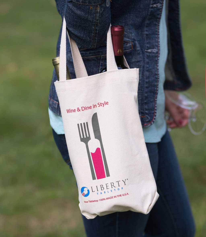 Liberty Tabletop Flatware wine tote bag