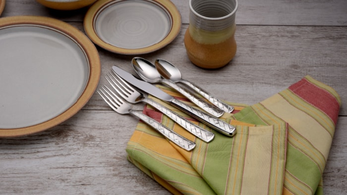 Giveaway: Made in USA Liberty Tabletop Weave 45 Piece Flatware Set and Wine Tote