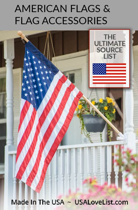 Made in USA American Flags and Flag Accessories includes flag etiquette