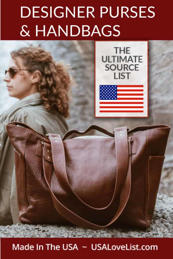 Designer Purses and Handbags made in USA via USALoveList.com#designerbags #luxury #purses #handbags #madeinUSA