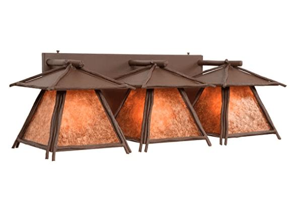 American made lighting: Steel Partners rustic themed lighting