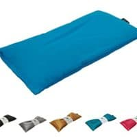 Unscented Eye Pillow - Migraine, Stress & Anxiety Relief - #1 Stress Relief Gifts - Made in USA,! (Turquoise - Organic Cotton)