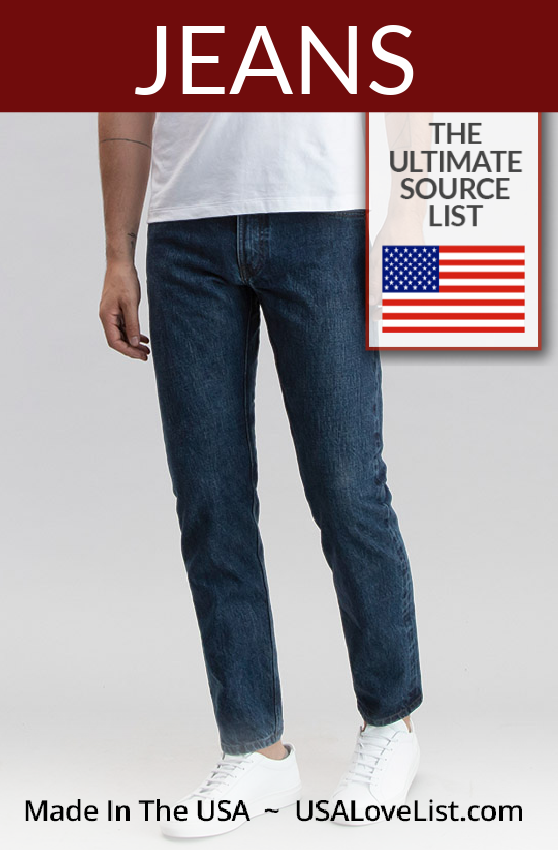 American made Jeans for men and women via USA Love List