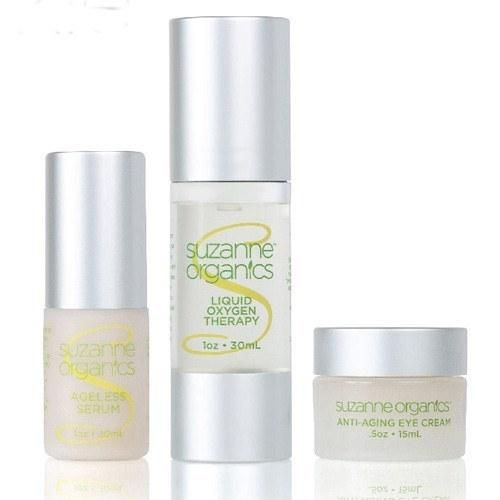 SUZANNE Organics Anti‐Wrinkle Arsenal Trio - Made in USA Gluten-Free Beauty Products