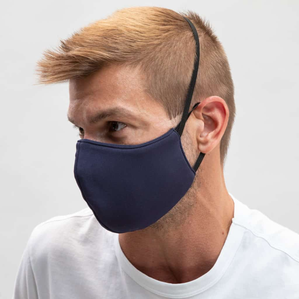 Todd Shelton made in USA face masks have a head loop for a tighter fit when talking. Stop touching your mask to hold it in place!