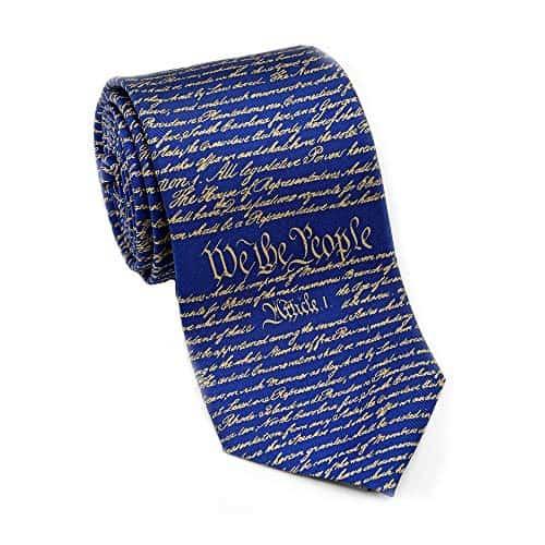 A Josh Bach Men's Constitution of United States silk necktie