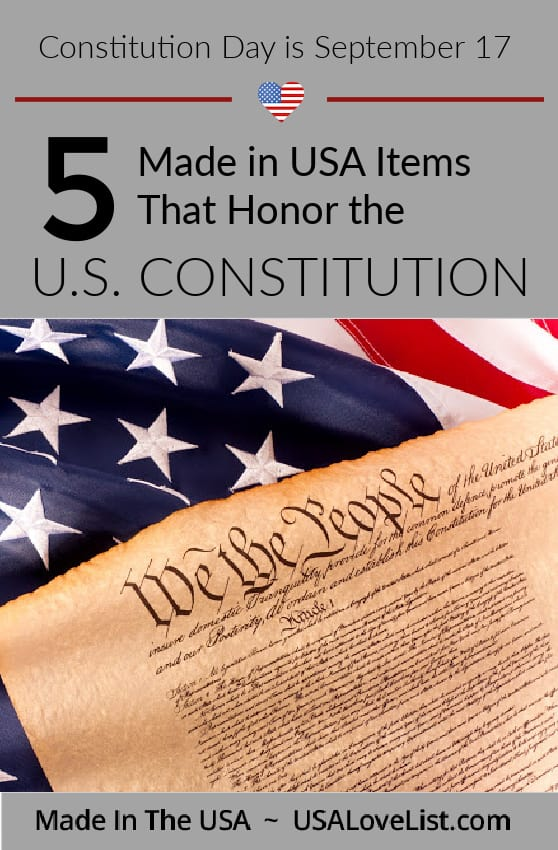 Made in USA Items that honor the US Constitution #ConstitutionDay #usalovelisted #madeinUSA