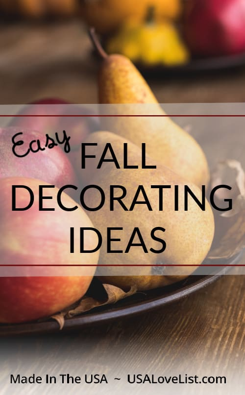 East Fall Decorating Ideas with American Made products, featured on USAlovelist.com