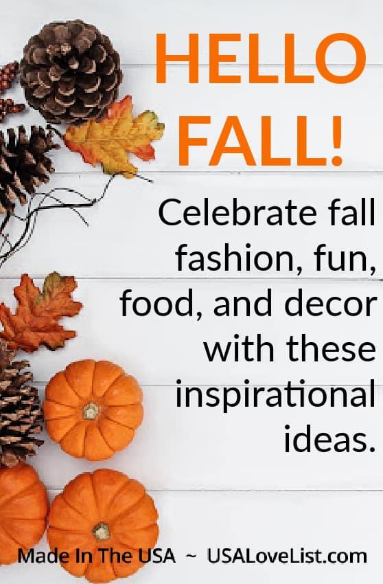 Fall Inspiration: fashion, food, fun, featured on USAlovelist.com