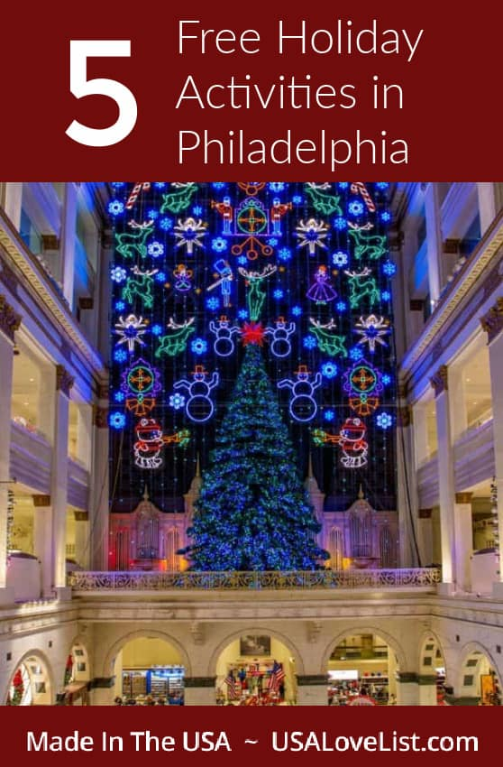 Free Holiday activities in Philadelphia photo credit: G. Widman for VISIT PHILADELPHIA® #usalovelisted #holiday #travel #philly