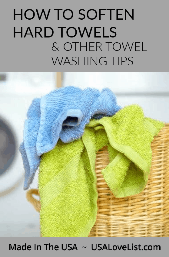 How to soften hard towels and other towel washing tips #cleaningtips #towels #bath #bathroom #usalovelisted