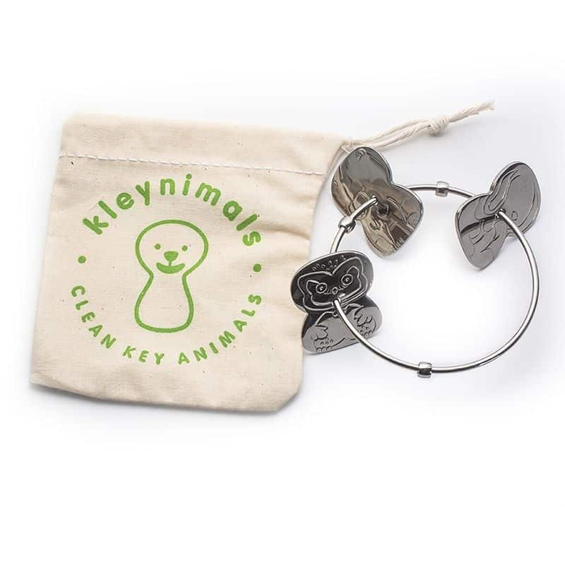 Non-Toxic Baby Gifts - Engravable Stainless Steel Rattle from Kleynimals - Made i USA