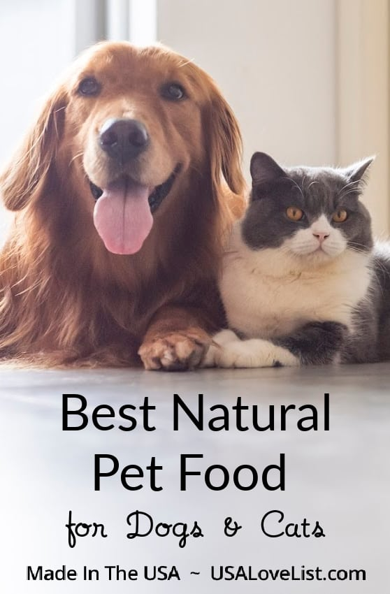 Best Natural Pet Food Made in USA or Dogs and Cats #Usalovelisted #pets #petfood #cats #dogs