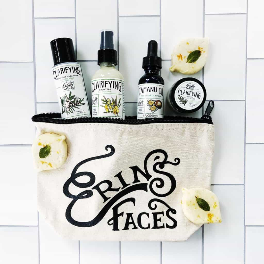 Cruelty free  beauty brands: Erin's Face - Made in USA Beauty and Skincare - Cruelty Free and Vegan Beauty