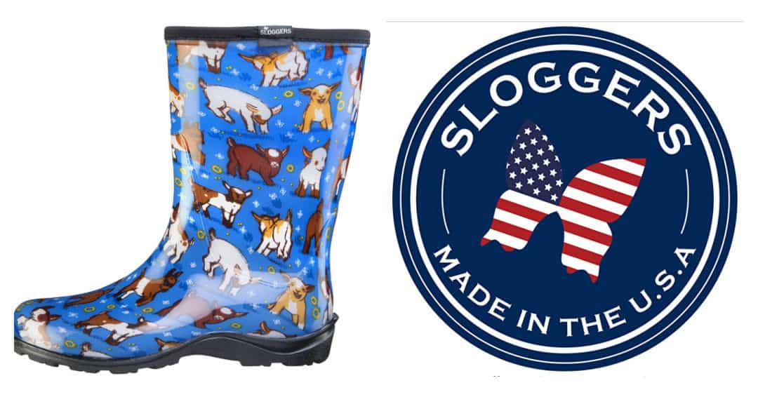 Sloggers Rain Boots are Made in the USA. See more American made rainy day styles at USAlovelist.
