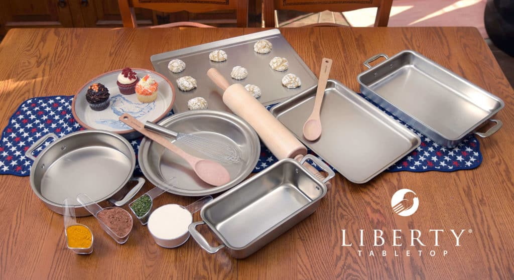 Gifts for the baker featuring LIberty Tabletop made in USA bakeware and accessories.