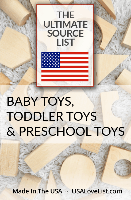 Made in USA Baby Toys, Toddler Toys, and Preschool Toys via YSAlovelist.com