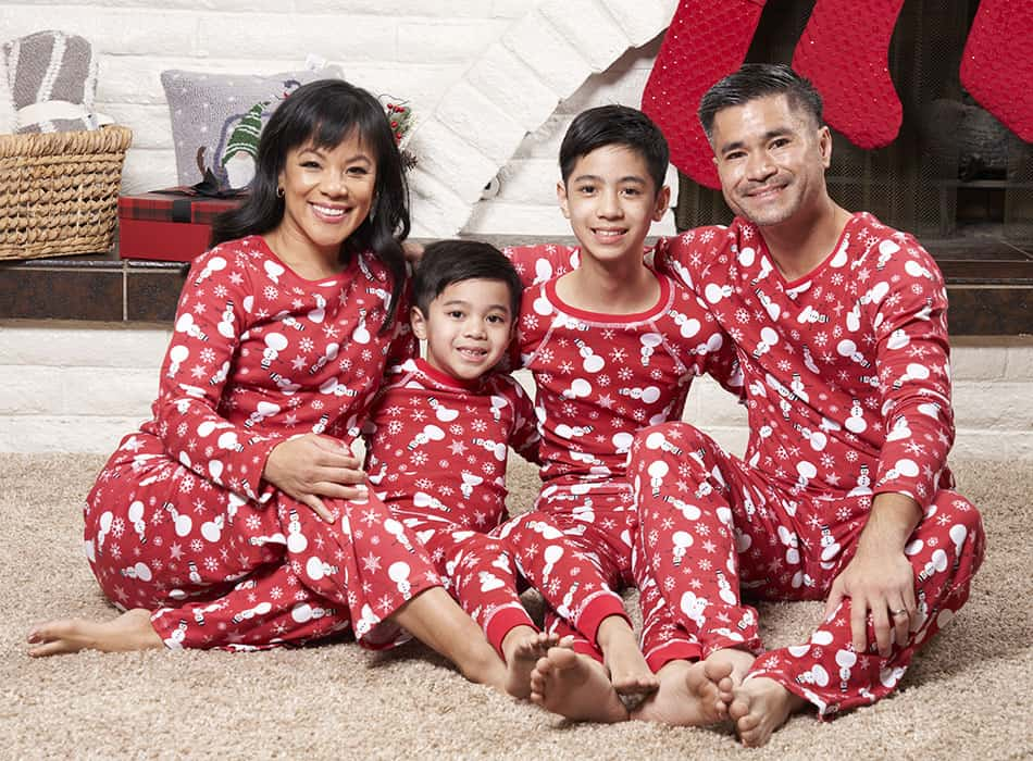 Brian the Pekingese family pajamas are made in the USA from organic cotton. Save 25% with promo code USA25. Valid until 12/31/20.