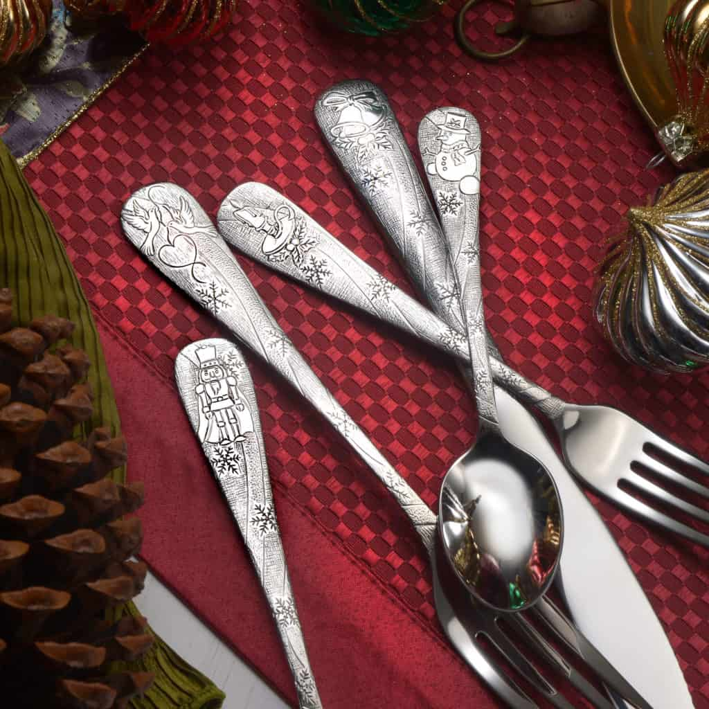 Christmas Decorations Made in USA: Liberty Tabletop made in USA Holiday silverware. Save 15% on Holidays flatware with promo code: holidays20 at checkout for discount. Offer Valid through November 30th 2020.