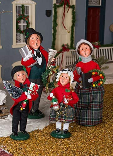 Christmas Decorations made in the USA: Byer's Choice caroler figurines are handmade in Pennsylvania.