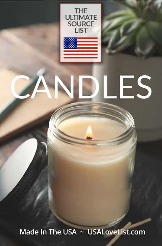 American Made Candles: The Ultimate Source List via USA Love List #usalovelisted