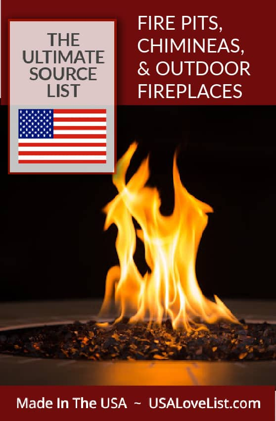 Made in USA Fire Pits, Chimineas, and Outdoor Fireplaces: The Source List #usalovelisted #outoor #firepits #madeinUSA