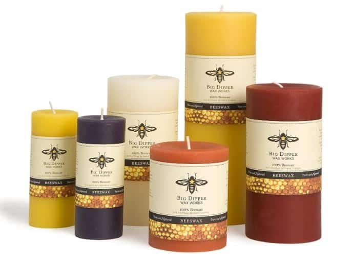 Made in USA Candles: Big Dipper Wax Works bees wax candles made in Washington #usalovelisted #madeinUSA