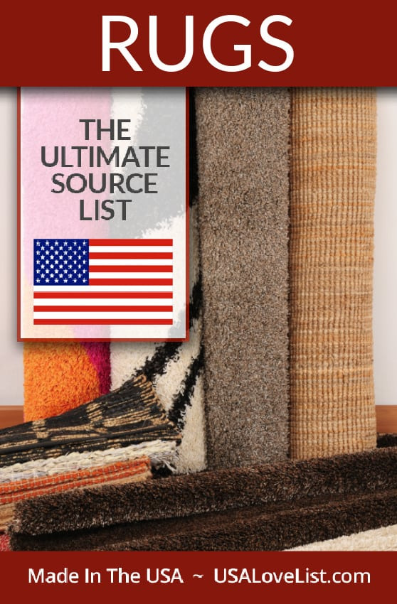 Made in USA area rugs, decor rugs, floor mats, and carpeting : The Source List #USAlovelisted #madeinUSA #rugs