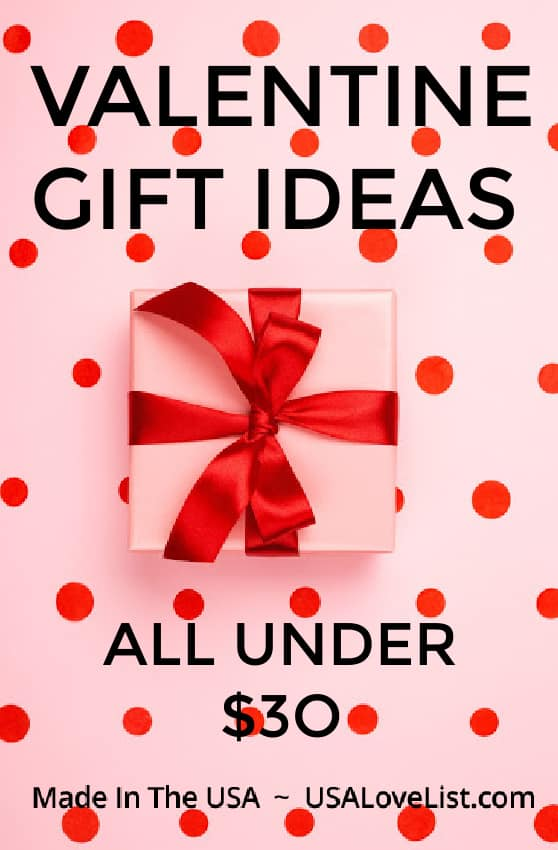 Affordable Valentine gift ideas all under $30