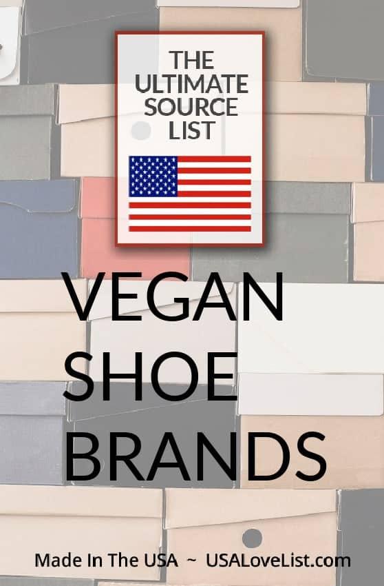 Vegan Shoe Brands Made in the USA via USAlovelist.com