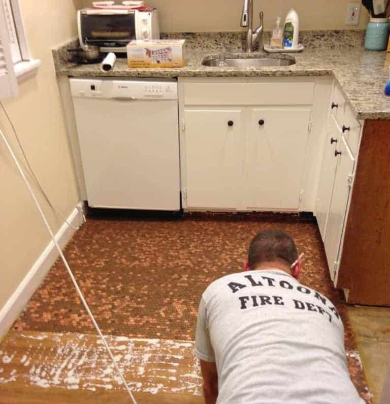 how to install a penny floor