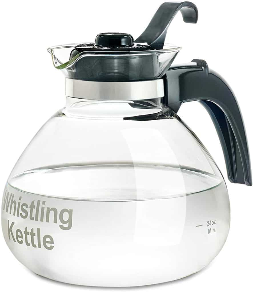 Tea Kettles Made in the USA: The Whistling Kettle is assembled in the USA. Glass from Germany. #madeinUSA #tea