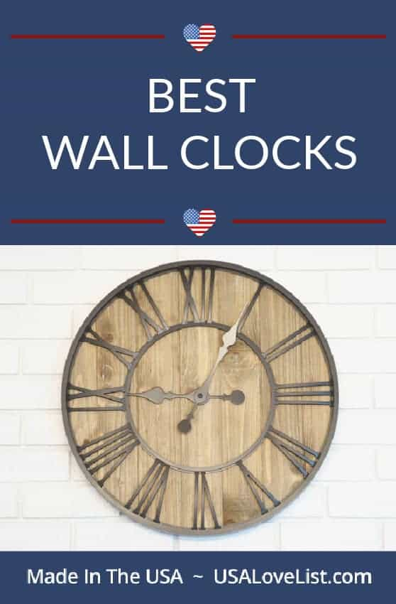Best Wall Clocks Made in the USA via USA Love List#usalovelisted #wallclocks #clocks #madeinUSA