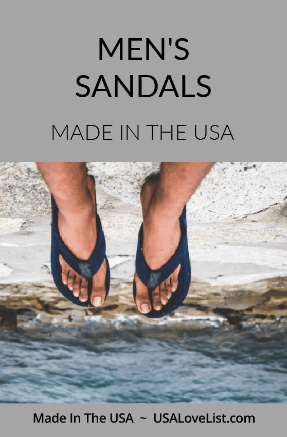 Men's Sandals made in USA via USA Love List#sandals #footwear #usalovelisted #madeinUSA #americanmade